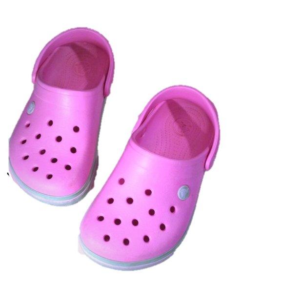 CROCS Shoes | Pink Girls Size 2 | Poshmark